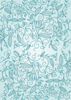Back Cover - Floral Ornaments - Aqua