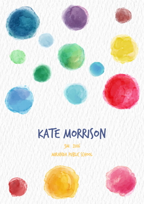 Front Cover - Colourful Paint Spots