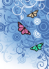 Back Cover - Butterflies With Blue Swirls