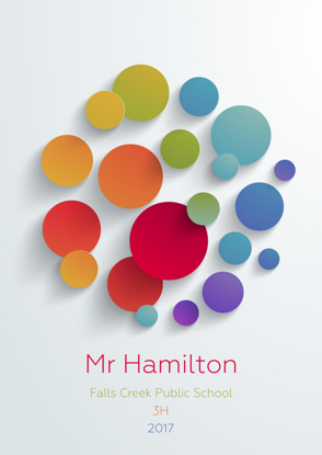 Front Cover - Colourful Abstract Dots