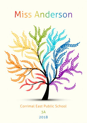 Front Cover - Colourful Leafy Tree
