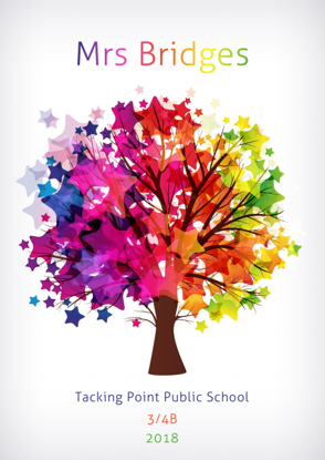 Front Cover - Colourful Tree with Stars
