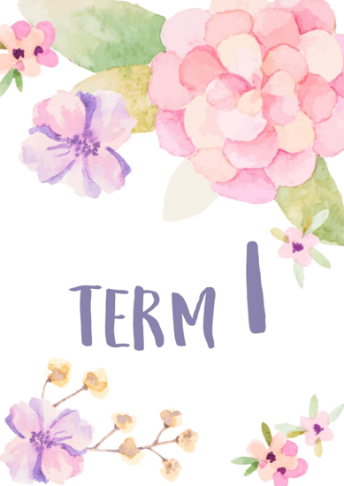 Watercolour Flowers 2 - Term 1