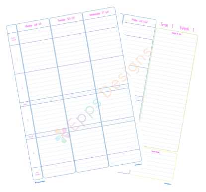 10-Weekly Planner [4 Periods] [v5]