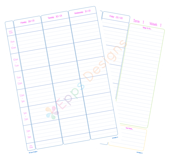10-Weekly Planner [6 Periods] [T2]