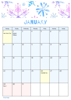 FloralCalendar - January
