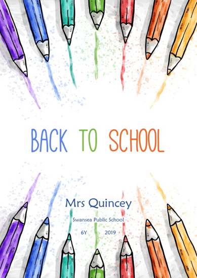 Front Cover - Back To School