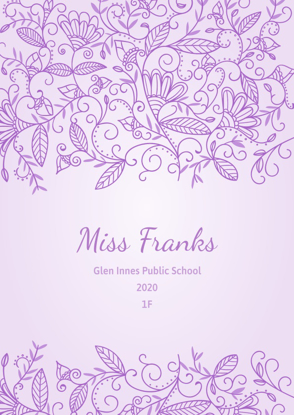 Floral Ornaments - Purple - Front Cover