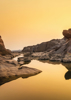 Ocean Rock Sunset - Back Cover