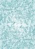 Back Cover - Floral Ornaments - Aqua