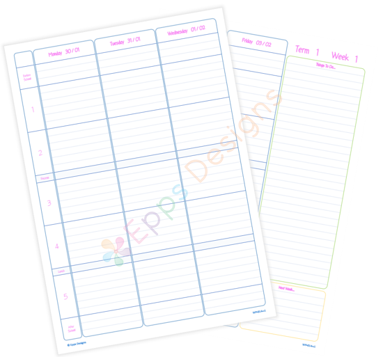 10-Weekly Planner [5 Periods]