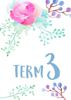 Watercolour Flowers 1 - Term 3