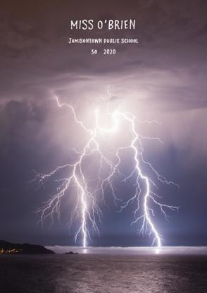 Lightning Over Ocean - Front Cover